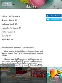 #tabletmenu #hamptons #ipadmenu #menu #menudesign #restaurantideas #food #dubai #desserts #dessert #menuideas #menu #restaurantmenus #macaron #macarons #makaron Macarons, Raspberry Ganache, Digital Menu, Sea Salt Caramel, Menu Design, Menu Restaurant, Sicilian, Pistachio, The Hamptons