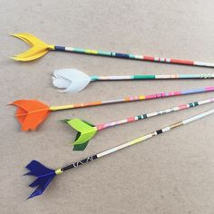 Painted arrows from Crafting Community