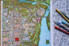 """A glance of cityscape. @stevedmcdonald #stevemcdonald #coloringbook…"