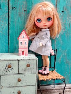 Porcelain dollhouse for Blythe doll size by theCherryHeart