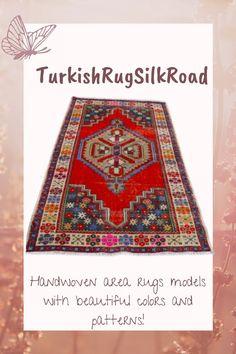 Red area rug, Boho rug, Handmade rug, Natural wool rug, Turkish rug, Aztec rug, 3.7 x 6.4 ft Vintage rug, Large rug, Oriental rug Rug Loom, 4x6 Rugs, Rustic Rugs, Natural Rug, Tribal Rug, Small Rugs, Bohemian Rug, Boho, Handmade Rugs