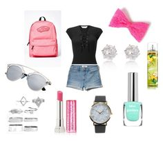 """School outfit!"" by eviemadeleine on Polyvore featuring Miss Selfridge, Hollister Co., River Island, Vans, Boohoo, Maybelline and NLY Accessories"