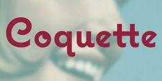Coquette™ - Webfont & Desktop font « MyFonts by Mark Simonson. I used it in my own wedding invitation. Now it's everywhere.  http://www.myfonts.com/fonts/marksimonson/coquette/#