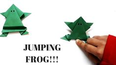 Origami Jumping Frog - Easy Paper frog (DIY) - How to make an Origami Frog? - Easy Origami Frog This video is all about making frog by paper. For making this cute and simple for all you need is just a sheet of paper. Surprisingly this frog of yours can even jump. This sounds unrealistic right? But yes this paper frog can jump and even looks pretty while it doing so. Just a few different steps can give you this beautiful piece of art. You can use this frog origami for your school projects…