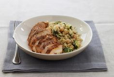 Quinoa With Zucchini and Spiced Skillet Chicken.