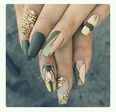 Classy Nails in 2019 Nail Art Nails Olive nails<br> Matte Nails, Stiletto Nails, My Nails, Acrylic Nails, Coffin Nails, Long Nails, Fabulous Nails, Gorgeous Nails, Pretty Nails