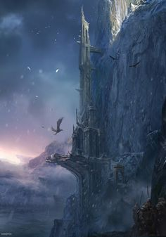 Cool Art: 2013 'Into The Pixel' Art - Freljord Tower (inspired by League of Legends) by James Paick