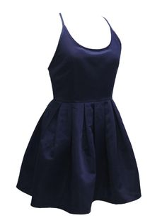Buy Navy Strappy Back Cross Skater Mini Dress from abaday.com, FREE shipping Worldwide - Fashion Clothing, Latest Street Fashion At Abaday.com