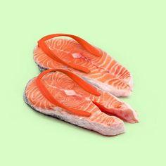 Salmon Flip Flops - Paul Fuentes
