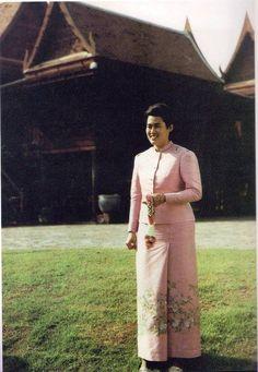 Princess Maha Chakri Sirindhorn of Thailand. King Of Kings, My King, King Queen, Thai Princess, My Princess, King Rama 9, Queen Sirikit, Thai Traditional Dress, Bhumibol Adulyadej