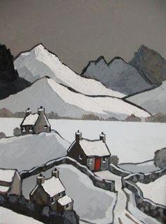 Across the Lake by Modern Contemporary Artist David Barnes