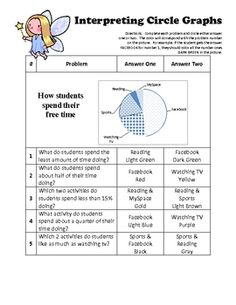 Worksheets Graphing Circles Worksheet circle graph circles math and fractions this is a coloring activity that has students interpret graphs by looking at the given