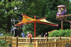 Cbeebies Land, Alton Towers - The canopies needed to be in keeping with the Cebeebies theme. After visiting the attraction we offered our Kite tensile canopies that have a stylish Hypar shape...