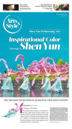 Inspirational Color Through Shen Yun Performing Arts Epoch Times #ShenYun #Music #Arts #newspaper #editorialdesign