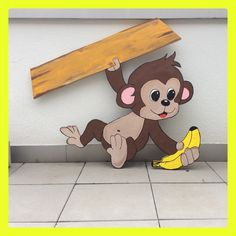 Tree Crafts, Diy And Crafts, Arts And Crafts, Paper Crafts, Baby Door Hangers, Wooden Cutouts, Happy Paintings, Wooden Animals, Summer Patterns