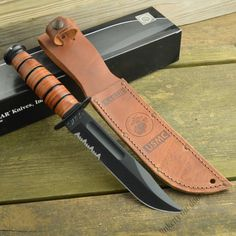 Ka-Bar USMC Fighting Knife - Serrated