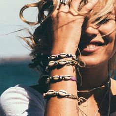 ❉ Sunset Lovers ❉ ✒ Shop The Magic Now @ www.shopdixi.com // boho // bohemian // jewellery // jewelry // grunge // witchy // goth // gothic // hippie // summer // ocean // beach // shell // natural // bracelet // magical  // lookbook