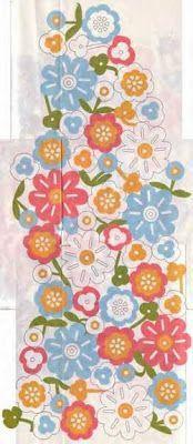 Arte Índia: Blusa de Crochê - Flores Coloridas