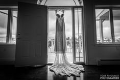 Lace wedding dress hangs in a doorway Garden Wedding, Lace Wedding, Wedding Dresses, Doorway, Tangled, My Dream, Wedding Details, Prince, Mirror