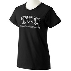 Texas Christian Horned Frogs NCAA Black Ladies T-shirt (X Large)