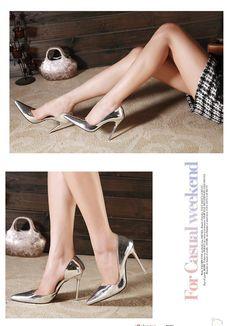 Новый 2015 серебряные каблуки шпильках высокие каблуки весна лето красное нижние указал ног тонкие каблуки женщин ну вечеринку дамы нагнетает ботинки купить на AliExpress