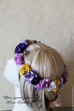 Купить Ободок венок с цветами - ободок, ободок для волос, ободок с цветами, ободок венок, венок