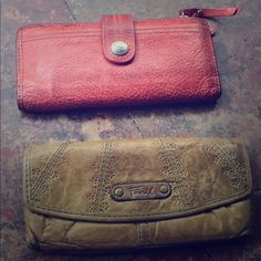 Fossil Wallet will sell together for $15 or separate for $8 each Fossil Bags Wallets