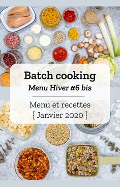 Batch cooking Winter # 6 bis - Batch cooking (menu and recipes) for week 5 (January - Easy Healthy Meal Prep, Easy Healthy Breakfast, Easy Healthy Recipes, Veggie Recipes, Lunch Recipes, Crockpot Recipes, Cooking Recipes, Drink Recipe Book, Health Dinner