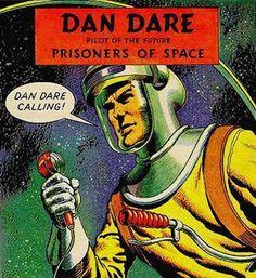 The original Dan Dare, complete with spacesuit
