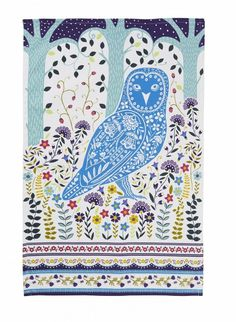 """Woodland Owl"" Cotton Tea Towel by Ulster Weavers Made in UK #Teatowel"