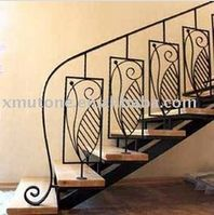 Artistic wrought iron staircase - www.irondoor.cn