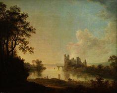 Ruiné château sur un lac de Richard Wilson