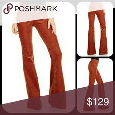 J Brand 929T BELLA Corduroy Kick Flare Pants Bnwt  Bloomingdale exclusive  j brand Bella Corduroy Kick Flare Pants in Terra Cota..pics of actual pants 2 b posted soon , a deep reddish brownish burnt orange shade ,imo the stock photos on model are more orange altho color /shade is often subjective, pics 2b posted soon  Sz 30 Msrp $248 Measurements on request  Offers via button pls J Brand Pants Boot Cut & Flare