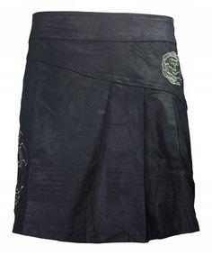 Another great find on #zulily! Black Pleated Grunge Asymmetrical Skirt #zulilyfinds