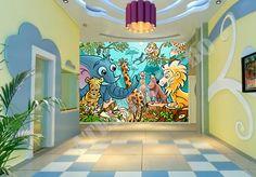 papier peint enfant école maternelle - Atelier WYBO - Papier peint personnalisé, Tapisserie numérique sur mesure