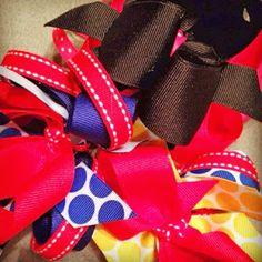 Sneak Peek for Kendra! Superhero themed bows!