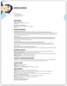 Graphic Design Resume  Digital Design Inspiration