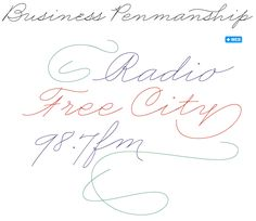 Business Penmanship font sample