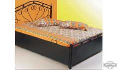 6x5ft storage bed with mattress new w.iron furniture at factory rate - Goregaon West, Mumbai