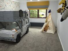 Customer testimonial of the Land Rover 90 Safari Military Bunk bed by Fun Funriture Collection, home of luxury, bespoke childresn handmade theme childrens bed , theme car beds, storage and toy boxes