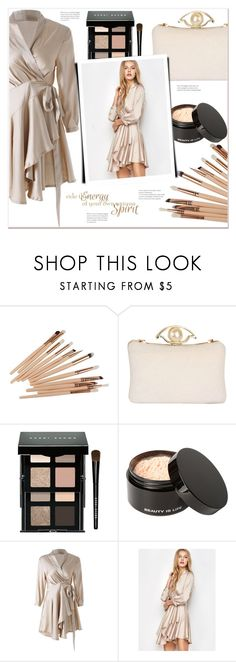 """Wrap-Dress"" by mycherryblossom ❤ liked on Polyvore featuring Bobbi Brown Cosmetics and Beauty Is Life"