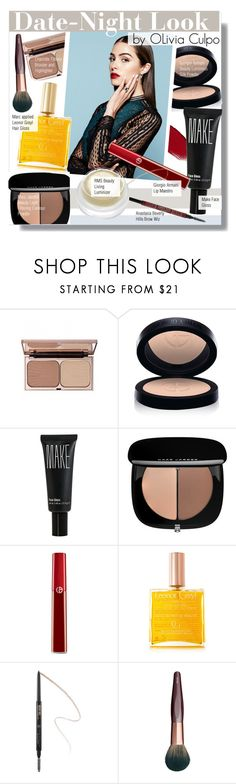 """""""Date-Night Look by Olivia Culpo"""" by kusja ❤ liked on Polyvore featuring beauty, Charlotte Tilbury, Armani Beauty, Make, Marc Jacobs, Leonor Greyl, Anastasia, rms beauty, DateNight and Beauty"""