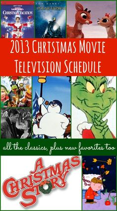 2013 Christmas Movie Television Schedule