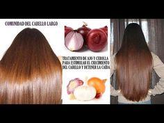 TRATAMIENTO de ajo y cebolla para estimular el crecimiento del cabello y...