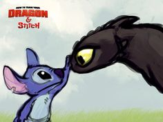 Dragon (toothless) and stitch