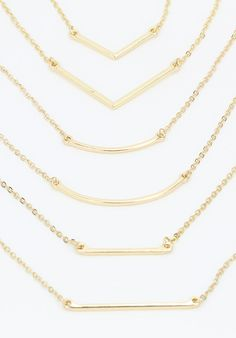 Three sets of layering necklaces... We can't decide which one we like best!