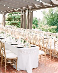 Dreamy wedding using Pedersen's Gold Chivari Chairs. Planner: Petite Pearl Events.