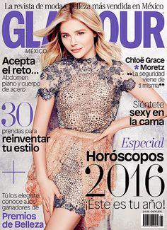 """ms-moretz: """"""""Chloe Moretz on the cover of Glamour México [January 2016] """" """""""