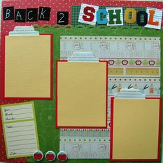 Back to School Scrapbook Layouts | premade scrapbook layout back to school 12x12 by by urbansavanna, $8 ...
