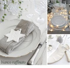 table setting - white